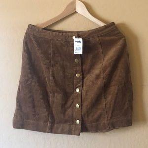 NWT Corduroy Skirt